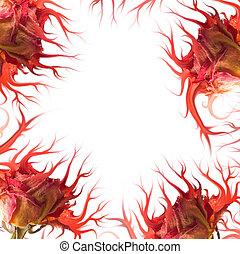 Mutant rose frame