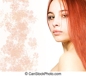 Beautiful girl with a red hair