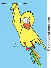 Funny Bird cartoon
