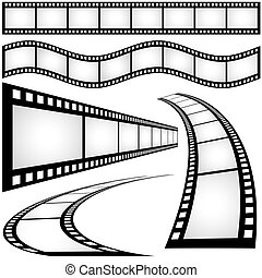 Filmstrip - black and white illustration, Vector