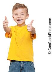 Portrait of boy - Portrait of beautiful little boy giving...