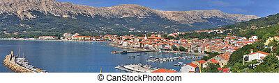Mediterranean Town of Baska panorama