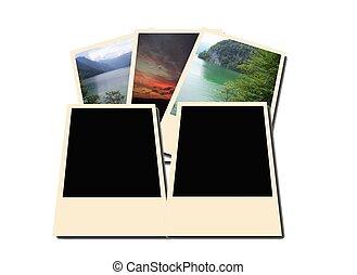 Old polaroid photo frames