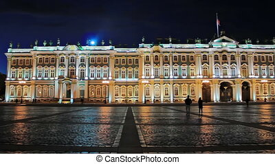 Palace Square - Night, Palace Square, Hermitage Museum St...