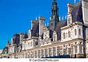Office of Mayor of Paris - Hotel de Ville, France