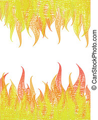 Scribble fire on white. Vector