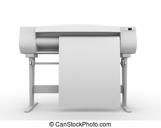 Plotter frontal view - Plotter. Frontal view. Professional...