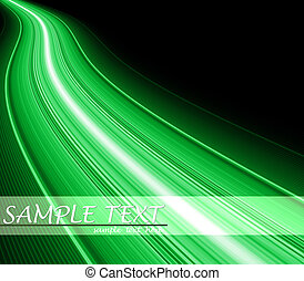 Green flash fiber wave background