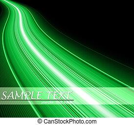 Green flash fiber wave background