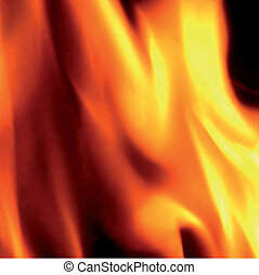 Flames of fire, close-up. Vector