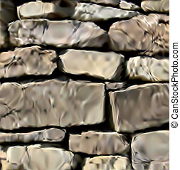 Background of stone wall texture. Vector