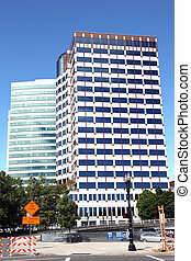 Modern buildings, dowtown Portland. - Modern corporation...