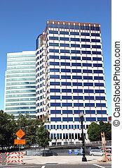 Modern buildings, dowtown Portland. - Modern corporation...