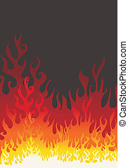 Fire flames vector background
