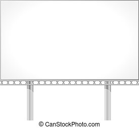 Vector illustration of a billboard