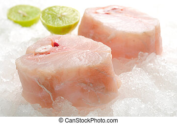 skinless cod on ice