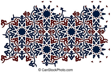 Islamic 0124 - Two-color islamic-style pattern for wallpaper...