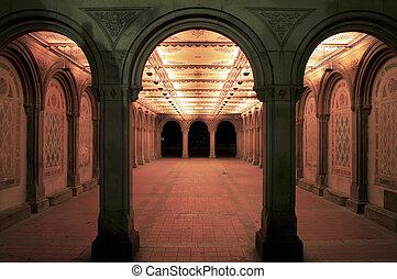 Bethesda Terrace Arcade - Entrance to Bethesda Terrace...