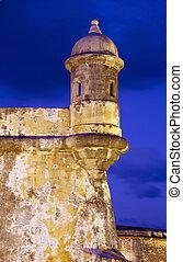 El Morro Old San Juan - Sentry Box at Old San Juan Fort San...