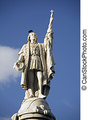 statue Christopher Columbus - statue of Christopher Columbus...