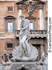 Statue The Birth of Venus at one of the streets of Rome in...
