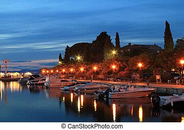 Malinska evening - Hot summer evening in town of Malinska,...