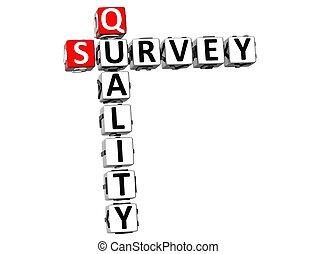 3D Quality Survey Crossword