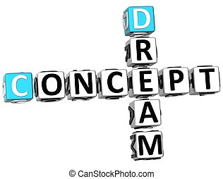 3D Dream Concept Crossword