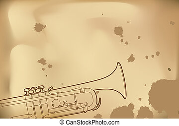Outline trumpet