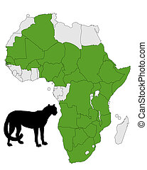 Cheetah distribution Africa