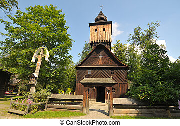 The Wallachian Village - St Annes church from Vetrkovice...