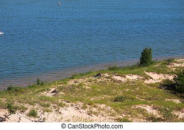 Lake shore - Scenic Silver lake shore in western Michigan