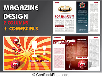 0062 MAGAZINE LAYOUT DESIGN TEMPLAT - Layout of magazine