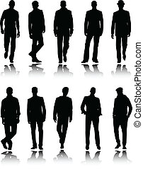 fashion men silhouettes - vector