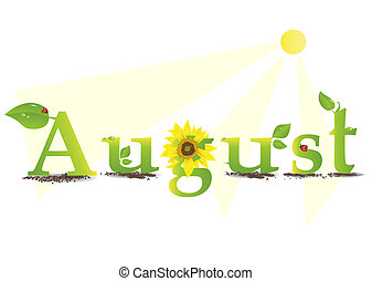 august - Vector illustration representing the concept of...