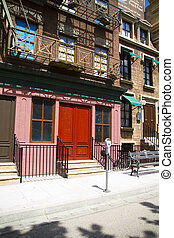 new york building inspired street facade - new york building...