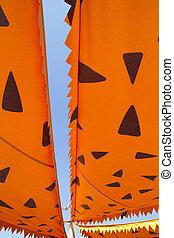 cartoonish orange awning sunshade - cartoonish orange awning...