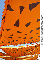 cartoonish orange awning sunshade decoration - cartoonish...