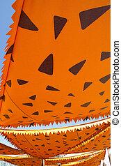 cartoonish orange awning sunshade decoration - cartoonish...
