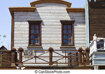 old wood house, western texture