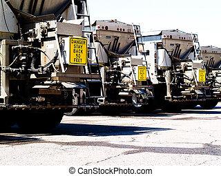 Salt trucks