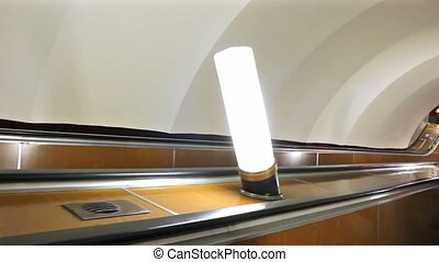 The descent into the subway, St Petersburg, Russia - ST...