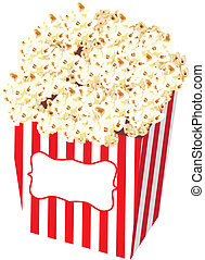Popcorn Bag Stock Illustration - Spot illustration of a...