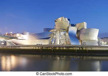 Guggenheim - Bilbao, Biscay, Basque Country, Spain, July 30,...
