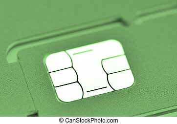 SIM card - foreground of a mobile phone SIM card