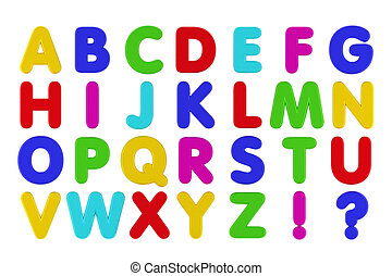 Fridge Magnet Alphabet - Alphabet in capital letters in the...