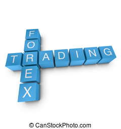 Forex trading 3D crossword on white background - Forex...