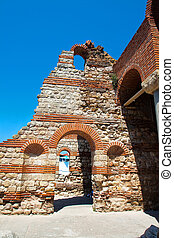 219 - Remains of ancient church. Bulgaria. Nessebar - The...