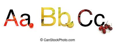 ABC of Fruit - The start of the english alphabet using fruit...