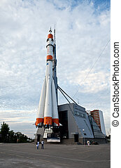 The Russian space transport rocket. - The Monument of...